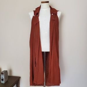 Moth | Anthropologie Long Vest (Cant see the size)